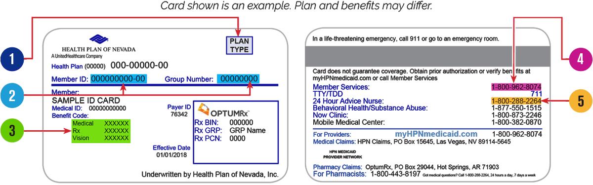 Health Plan ID Card